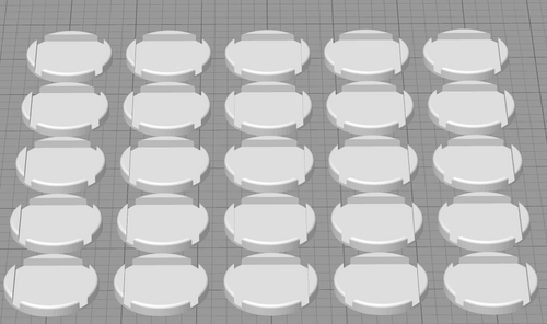 25mm Square to 32mm Round Conversion Bases
