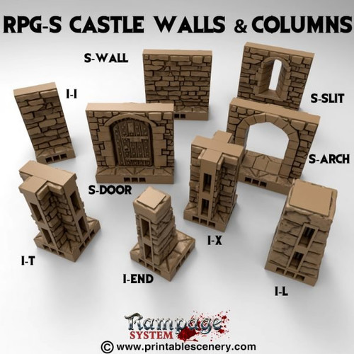 Castle S walls and Columns