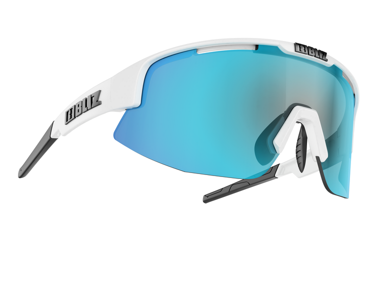 Bliz Matrix, Shiny White Frame, Smoke with Blue Multi Lens Bliz™ Sunglasses 84.95 Enjoy Winter