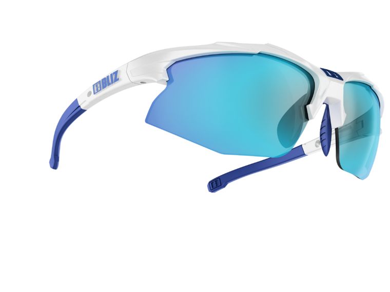 Bliz Hybrid, White Frame, Smoke with Blue Multi Lens, Spare Clear and Orange Lens Bliz™ Sunglasses 94.95 Enjoy Winter