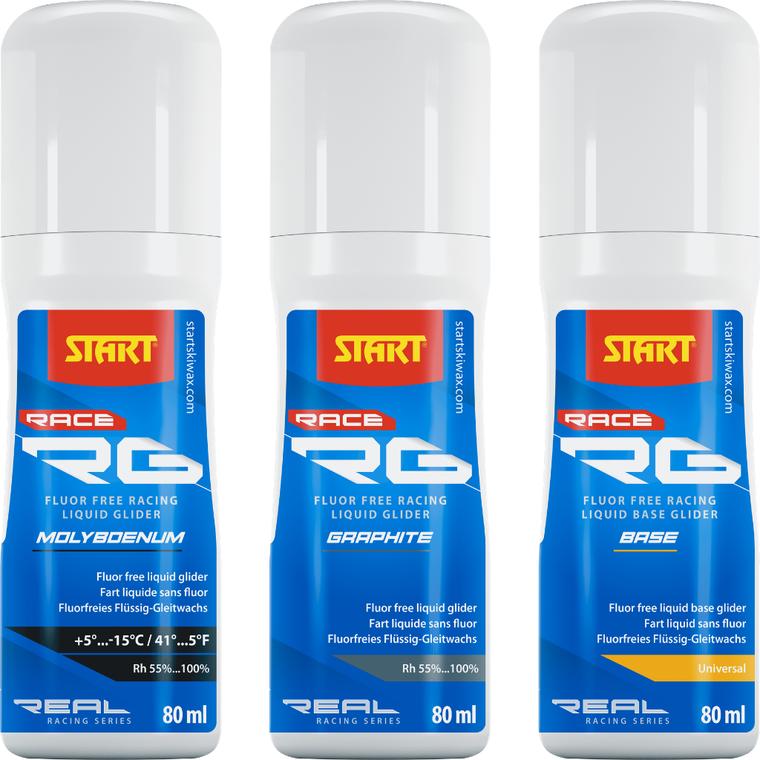 START RG RACE LIQUID BASE PREP & ADDITIVE RG- Fluor Free Race Wax 48 Enjoy Winter