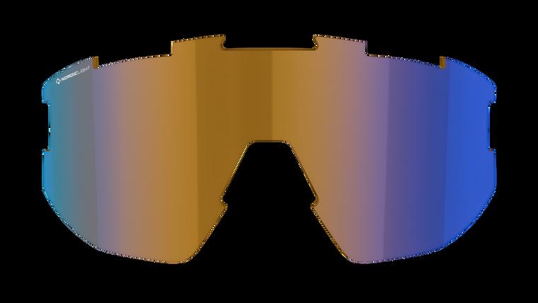 Fusion + Matrix Spare Lens - Nano Optics Nordic Light Coral with Blue Multi Contrast Lens