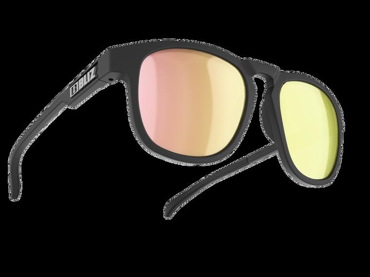 Bliz Ace, Matte Rubber Black Frame, Smoke with Rose-Gold Multi Lens NO box