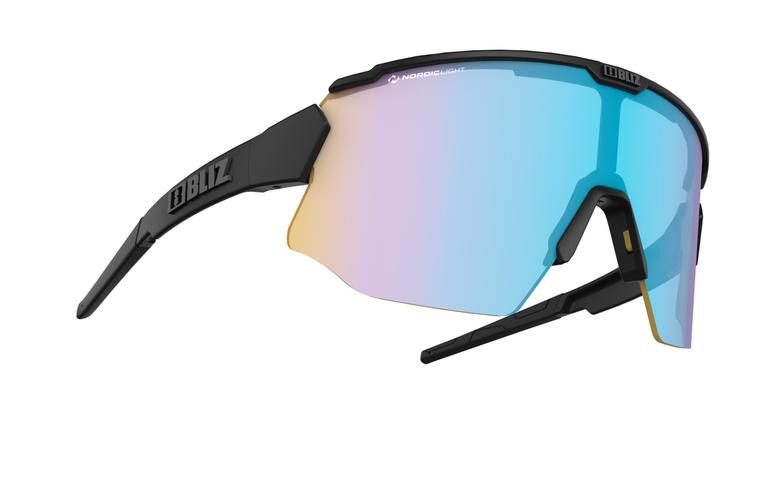 Bliz Breeze Nano Optics Nordic Light, Black Frame, Coral with Blue Multi Contrast Lens + Spare Brown with Silver Mirror Lens Bliz™ Sunglasses 149.95 Enjoy Winter