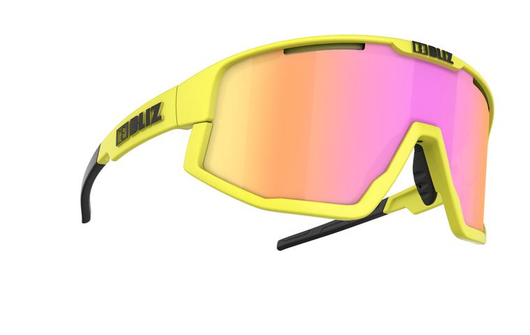 Bliz Fusion, Neon Yellow Frame, Brown with Purple Multi Lens Bliz SS21 Active 94.95 Enjoy Winter