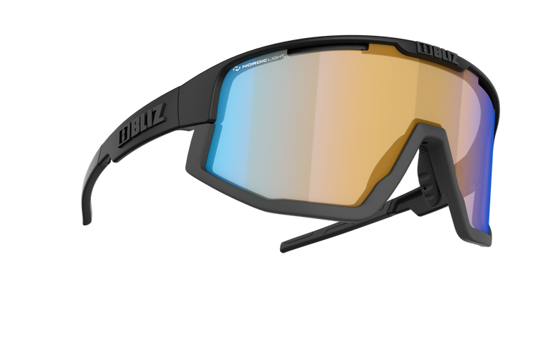 Bliz Fusion Nano Optics Nordic Light, Matte Black with Matte Grey Jawbone, Coral with Blue Multi Contrast Lens Bliz™ Sunglasses 124.95 Enjoy Winter
