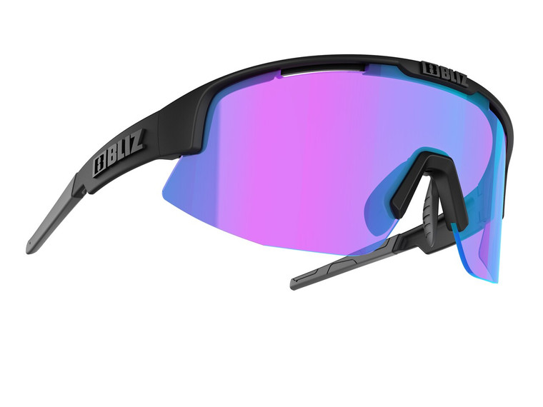 Bliz Matrix Nano Optics Nordic Light, Matte Black Frame, Begonia with Blue Multi Contrast Lens Bliz™ Sunglasses 104.95 Enjoy Winter