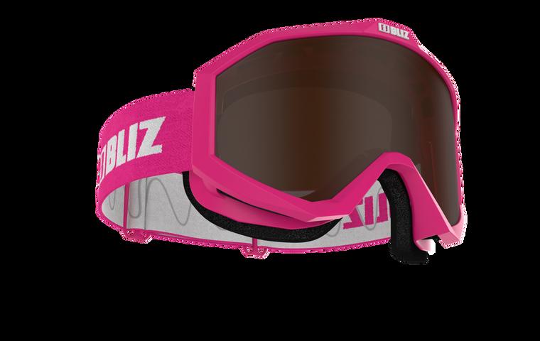 Bliz Liner, Pink Frame, Brown Single Lens
