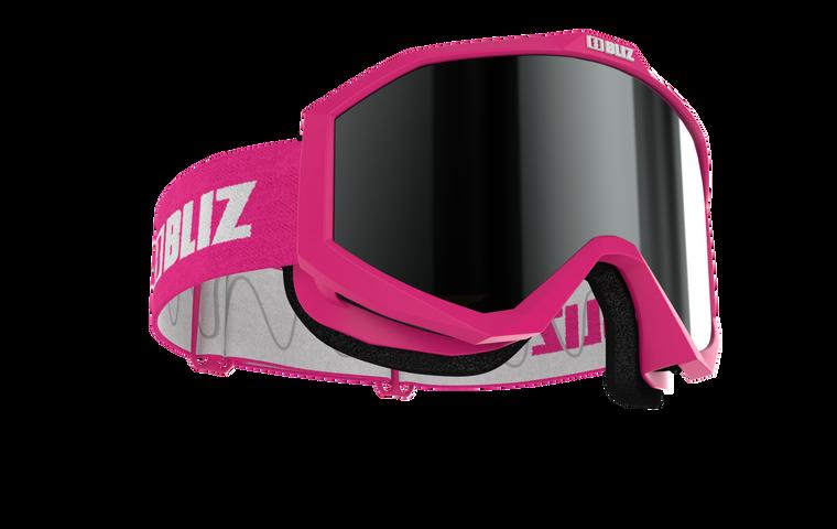 Bliz Liner JR, Pink Frame, Brown with Silver Mirror Lens