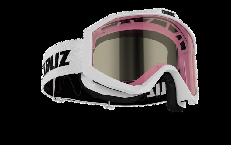 Bliz Liner JR, White Frame, Pink Contrast Lens