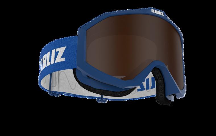Bliz Liner JR, Blue Frame, Brown Contrast Lens