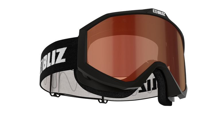 Bliz Liner JR, Black Frame, Orange Single Lens