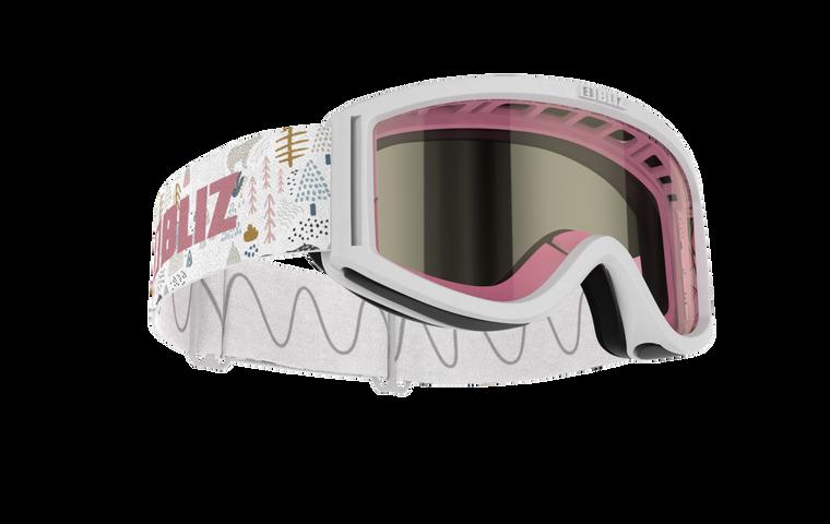 Bliz Pixie, White Frame, Pink Single Lens
