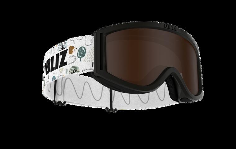 Bliz Pixie, Black Frame, White Strap, Brown Single Lens