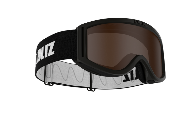 Bliz Pixie, Black Frame, Black Strap, Brown Single Lens