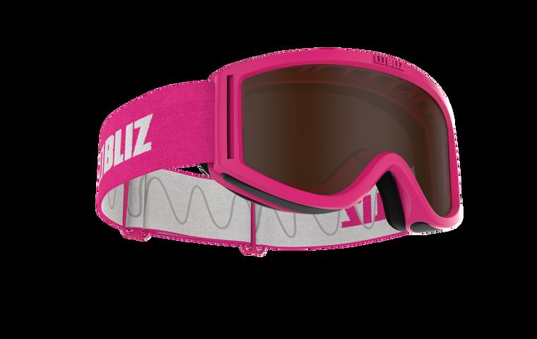 Bliz Pixie, Pink Frame, Brown Single Lens