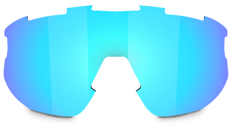 Bliz Fusion + Matrix Spare Lens - Smoke with Blue Multi