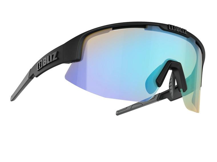 Bliz Matrix Nano Optics Nordic Light, Matte Black Frame, Coral with Blue Multi Contrast Lens Bliz™ Sunglasses 104.95 Enjoy Winter