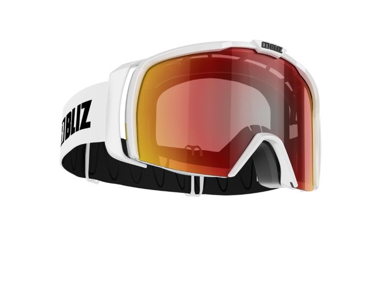Bliz Nova, Shiny White Frame, Brown with Red Multi Lens Bliz 94.95 Enjoy Winter