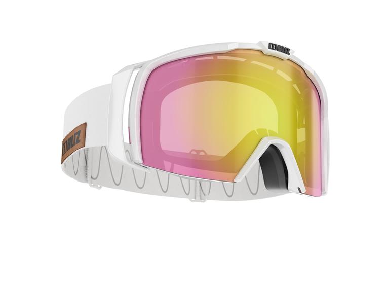 Bliz Nova, Shiny White Frame, Brown with Rose Gold Multi Lens Bliz™ Goggles 94.95 Enjoy Winter