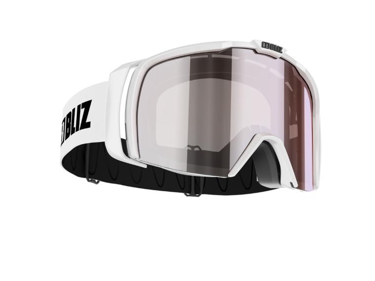 Bliz Nova Small Face, Shiny White Frame, Smoke with Silver Mirror Lens Bliz 94.95 Enjoy Winter