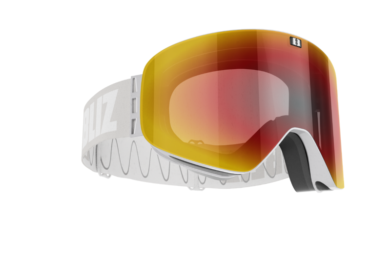 Bliz Flow, Light Grey Frame, Brown with Red Multi Lens and Spare Pink Contrast Lens Goggles 124.95 Enjoy Winter