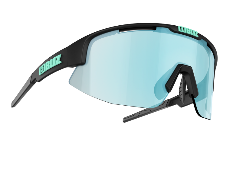 Bliz Matrix Small Face, Matte Black Frame, Smoke with Ice Blue Multi Lens