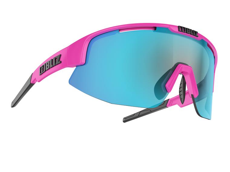 Bliz Matrix Small Face, Shiny Pink Frame, Brown with Blue Multi Lens Bliz™ Sunglasses 84.95 Enjoy Winter