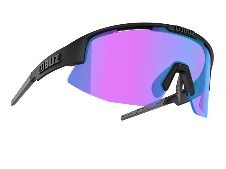 Bliz Matrix Small Face Nano Optics Nordic Light, Matte Black Frame, Begonia with Blue Multi Contrast Lens Bliz™ Sunglasses 104.95 Enjoy Winter