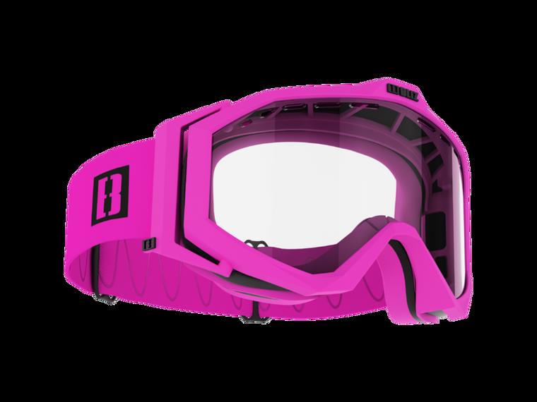 Bliz Edge Drop MTB, Matte Pink Frame, Clear Lens