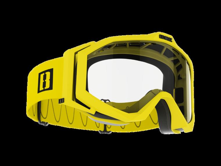 Bliz Edge Drop MTB, Matte Yellow Frame, Clear Lens