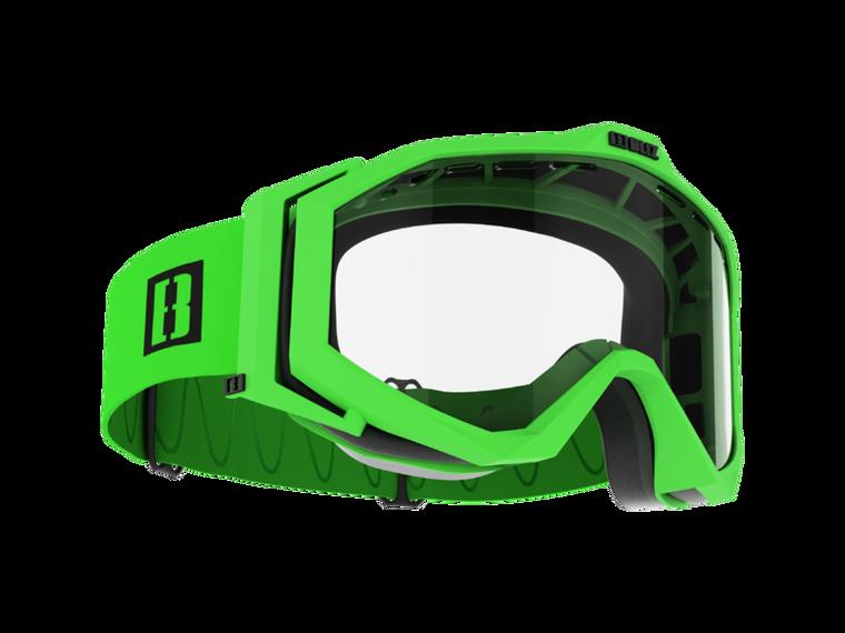 Bliz Edge Drop MTB, Matt Green Frame, Clear Lens