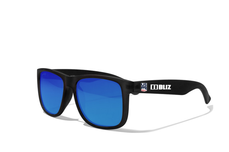U.S. Ski Team Lifestyle Sunglasses - Smoke with Blue Multi