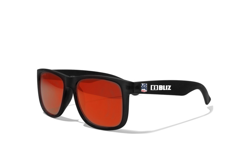 U.S. Ski Team Lifestyle Sunglasses - Smoke with Red Multi
