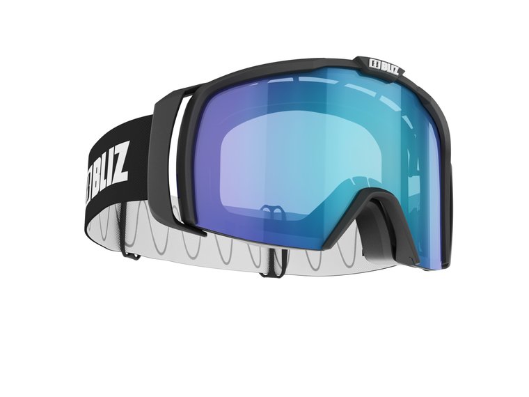 Bliz Nova Nano Optics, Matte Black Frame, Light Orange with Blue Multi Ultra Lens Bliz 124.95 Enjoy Winter