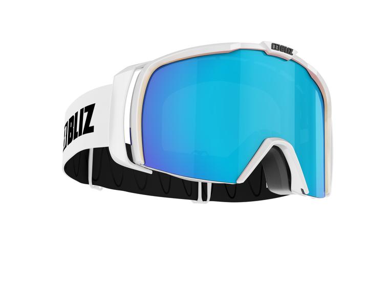 Bliz Nova Nano Optics, Matte White Frame, Brown with Blue Multi Nano Lens Bliz 124.95 Enjoy Winter