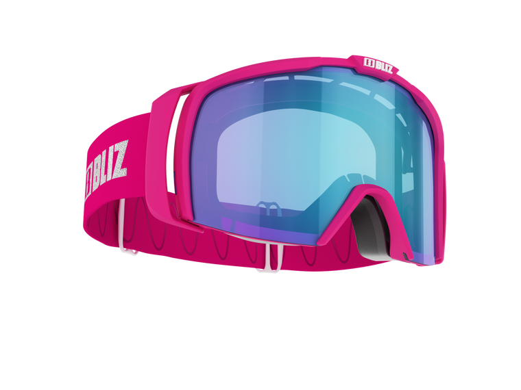 Bliz Nova, Pink Frame with Brown Blue Lens