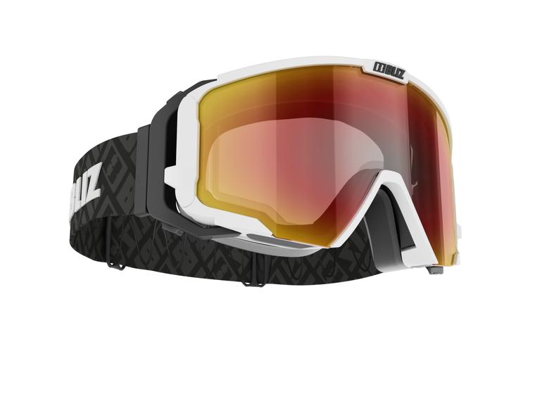 Bliz Switch Nano Optics, White Frame with Brown Red Multi Lens Bliz™ Goggles 189 Enjoy Winter