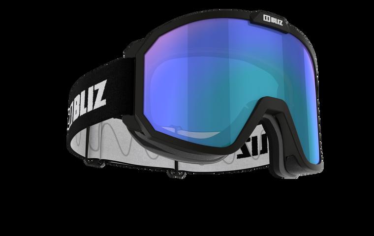 Bliz Rave, Black Frame with Light Orange Blue Multi Lens
