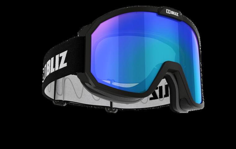 Bliz Rave, Matte Black Frame with Brown Blue Multi Lens