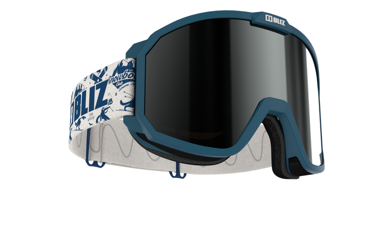 Bliz Rave, Matte Blue Frame with Brown Silver Mirror Lens