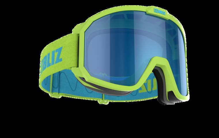 Bliz Rave Lime Green Frame with Brown Blue Multi Lens