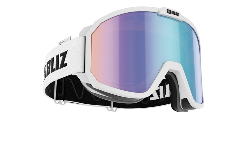 Bliz Rave, Nano Optics, White Frame with Brown Blue Lens Goggles 104.95 Enjoy Winter