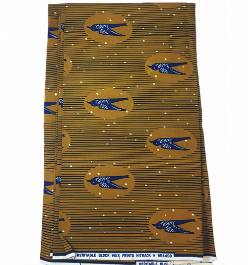 6 Yards African Fabrics - 100% Cotton (SAF0132)