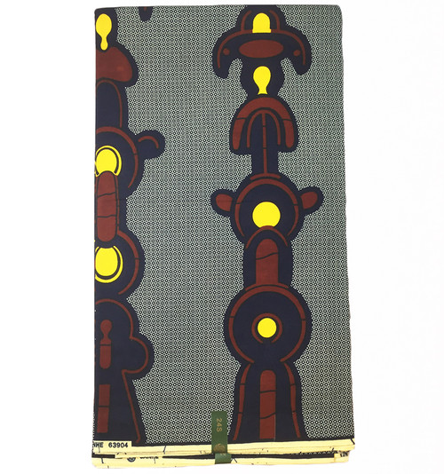 6 Yards African Print Fabrics - 100% Cotton (SAF0129)