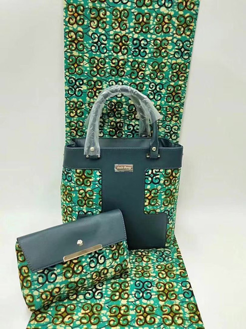 African Fabric bag Set SAFB018