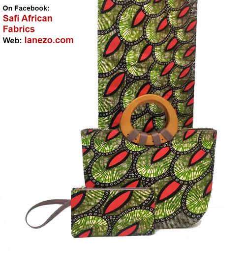 African Fabric bag Set SAFB026
