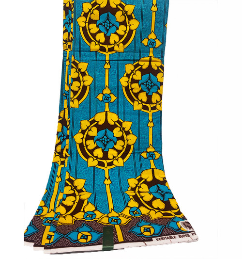 6 Yards SUPER WAX African Fabrics - 100% Cotton (SSW0113)