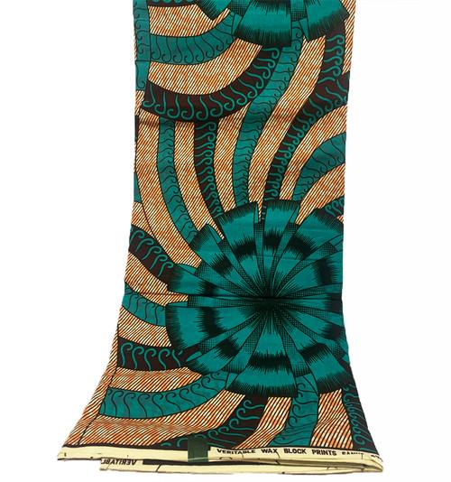 6 Yards SUPER WAX African Fabrics - 100% Cotton (SSW0100)