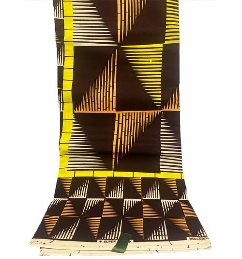 6 Yards SUPER WAX African Fabrics - 100% Cotton (SSW0103)